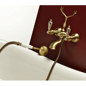 Webert Alexandra AL720201065 бронза для ванны, ручки Swarovski