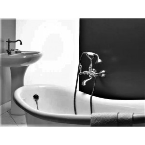 Webert Alexandra AL720201017 хром/золото для ванны, ручки Swarovski