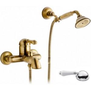Nicolazzi Classica Lusso 3401 BZ 76 для ванны, бронза/белая ручка