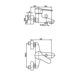 Paini Cooper 80CR105KM хром