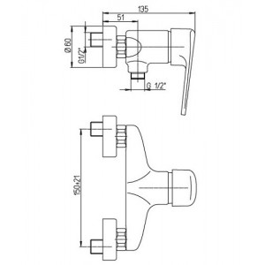 Paini Cooper 80CR511KM хром