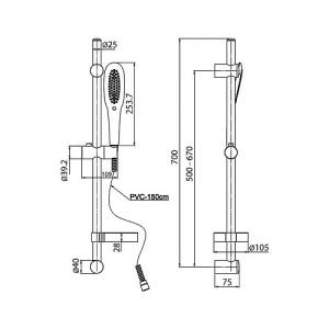 Душевая стойка Paini 50CR124/P16 хром