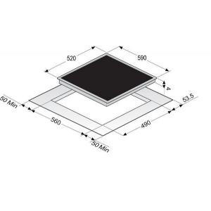 Варочная поверхность Zigmund & Shtain CIS 028.60 BX черный