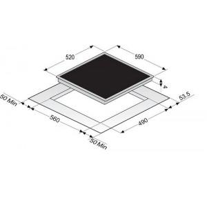 Варочная поверхность Zigmund & Shtain CIS 209.60 BK черный