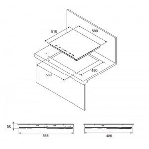 Варочная поверхность Zigmund & Shtain CNS 021.60 DX