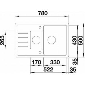 Blanco Legra 6 S Compact