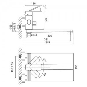 Смеситель D&K Altportel Rhein DA1333301 универсальный хром