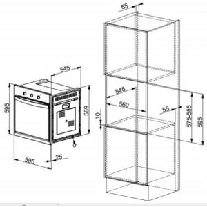 Духовой шкаф  Franke CM 65 M XS нержавеющая сталь