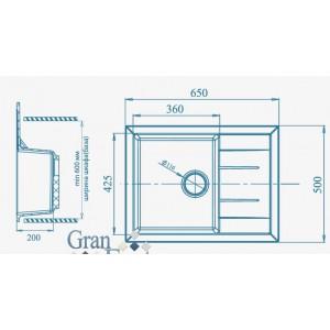 Мойка Granfest Quadro GF-Q650L