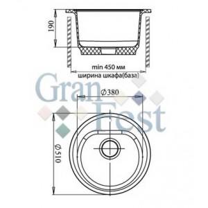 Мойка Granfest Rondo GF-R510