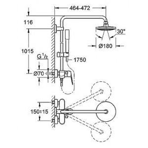 Душевая система Grohe Eurodisc Cosmopolitan 23058002 хром