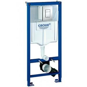Система инсталляции Grohe Rapid SL 38772001 3 в 1 с кнопкой смыва для унитазов