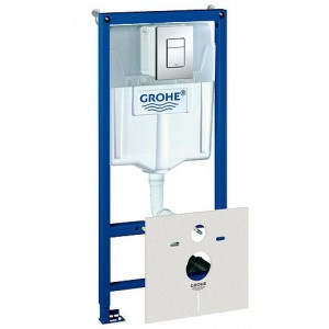 Система инсталляции Grohe Rapid SL 38750001 4 в 1 с кнопкой смыва для унитазов