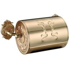 Бумагодержатель с крышкой Hayta 13903 Gold