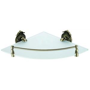 Полка со стеклом угловая Hayta 13910-1 Bronze