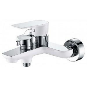Смеситель Kaiser Atrio 60022 хром/белый для ванны