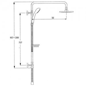 Душевая система Kaiser 2060 хром (без смесителя)