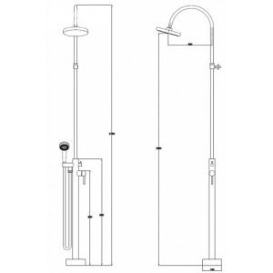 Душевая система Kaiser 25182 хром (напольная)