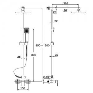 Душевая система Kaiser LE-1110 хром