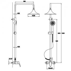 Душевая система Kaiser SX-1111 хром