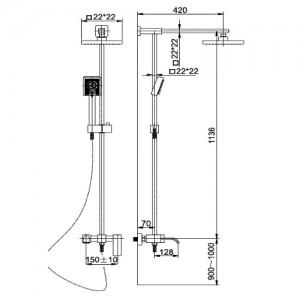 Душевая система Kaiser SX-1113 хром