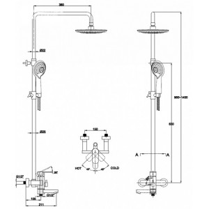 Душевая система Kaiser SX-2060-1 хром