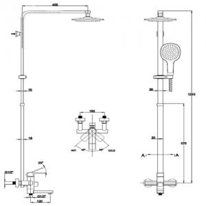 Душевая система Kaiser Sonat 35182 хром/черный