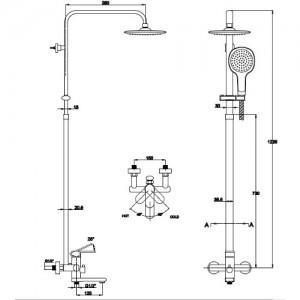 Душевая система Kaiser Sonat 37182 хром