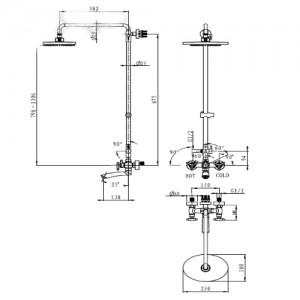 Душевая система Kaiser Trio 57188 хром