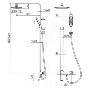 Душевая система с термостатом Kaiser Zinger 35282 хром