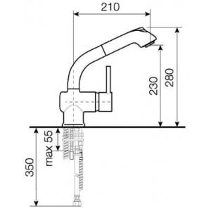 Смеситель LAVA ID 0820 хром для кухни