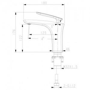 Смеситель Lemark Bellario LM6806C для раковины