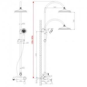Душевая система Lemark Intense LM5662C для ванны