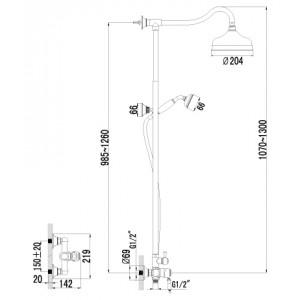 Душевая система Lemark Villa LM4860B для душа