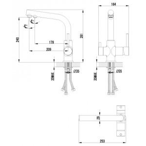 Смеситель Lemark Comfort LM3061C для кухни