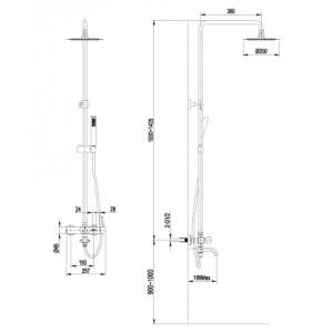 Душевая система Lemark Element LM5162S для ванны