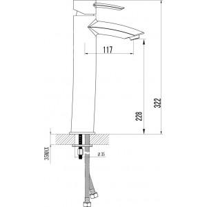 Смеситель Lemark Atlantiss LM3209C для раковины