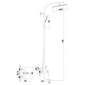 Душевая система Lemark Melange LM4962CW для ванны