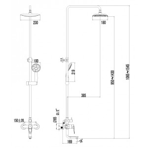 Душевая система Lemark Omega LM3162C для душа