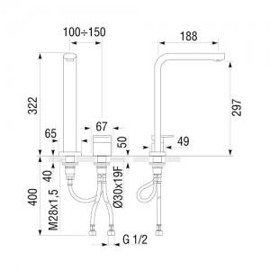 Смеситель Longran AG G60919 [CR] хром