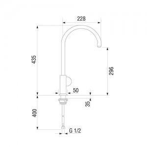 Смеситель Longran AG G62101 [CR] хром