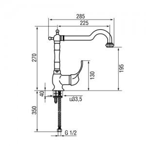 Смеситель Longran Classica G54900-BR бронза