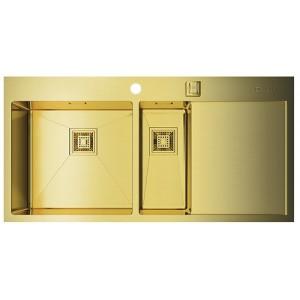 Мойка Omoikiri Akisame 100-2-LG L светлое золото, чаша слева