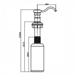 Дозатор Omoikiri OM-01-AB античная латунь