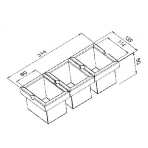Модуль из трёх контейнеров Reginox Manhattan R1629