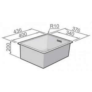Мойка Rodi Box line 34 under