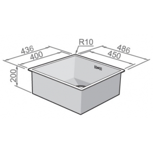 Мойка Rodi Box line 45 under