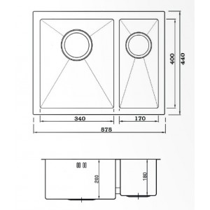 Мойка Seaman Eco Marino SME-575DL Amethyst (PVD) доп. чаша слева