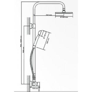Душевая система Seaman Eco Koblenz SSN-2346B