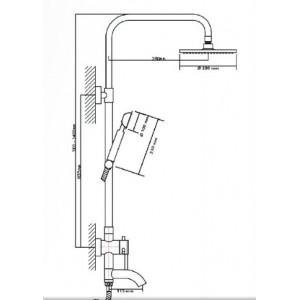 Душевая система Seaman Eco Koblenz SSN-2348C